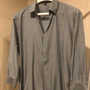 EXPRESS blue & white stripe tunic top
